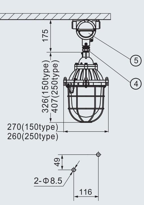 HRD-150 Series Exproof Incandescent Lighting Fixture 200W Warom
