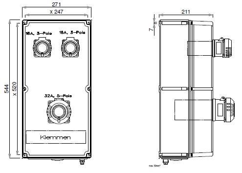 EATON GRP Plug & Socket Combination Panels
