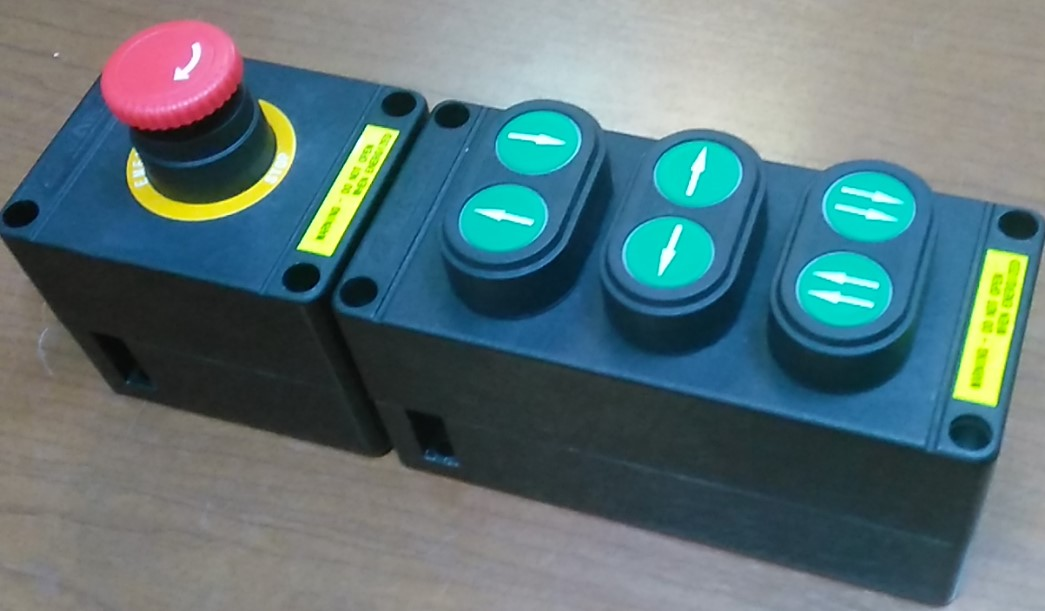 BZA8050-A4 Crane control 6 buttons + 1 emergency button
